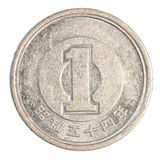 una moneta di Yen giapponesi Fotografia Stock Libera da Diritti