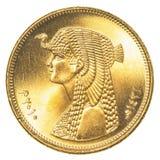 una moneta egiziana da 50 piastre Fotografia Stock Libera da Diritti