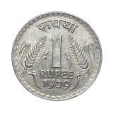 Una moneta India della rupia fotografia stock libera da diritti
