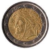 Una moneta italiana di 2 euro Fotografia Stock