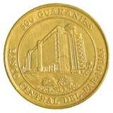Una moneta paraguaiana di 500 guaranies Fotografia Stock Libera da Diritti