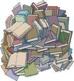 Una montaña de libros imagen de archivo libre de regalías