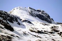 Una montagna bianca sulla strada a Skagway Alaska Immagine Stock