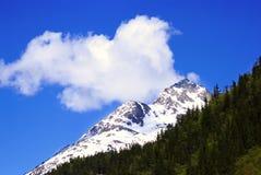 Una montagna bianca sulla strada a Skagway Alaska Fotografie Stock Libere da Diritti