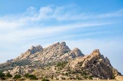Una montagna della pietra fotografie stock libere da diritti