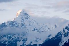 Una montagna delle quattro ragazze (Siguniangshan) Immagini Stock