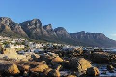 Una montagna di dodici apostoli a Cape Town, Sudafrica Fotografia Stock