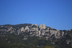 Una montagna di pietra Fotografia Stock