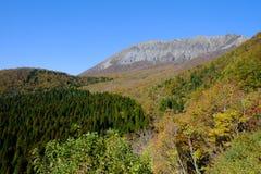 Una montagna famosa Daisen nella prefettura di Tottori nel Giappone Fotografie Stock Libere da Diritti