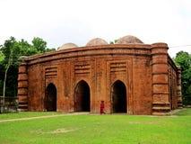 Una moschea di nove cupole, Bagarhat, Bangladesh fotografia stock libera da diritti