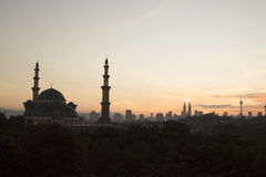 Una moschea Kuala Lumpur Fotografie Stock Libere da Diritti