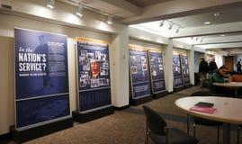 Una mostra circa l'eredità di Woodrow Wilson all'università di Princeton Immagini Stock Libere da Diritti