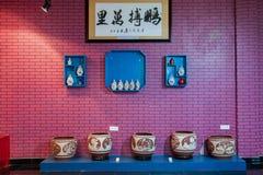 Una mostra del museo delle terraglie delle terraglie di Rongchang Chongqing Rongchang Immagine Stock