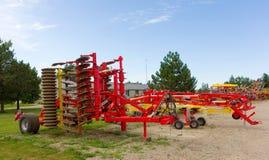 Una mostra dell'attrezzatura moderna di azienda agricola Immagine Stock Libera da Diritti