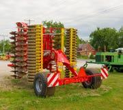 Una mostra dell'attrezzatura moderna di azienda agricola Fotografia Stock Libera da Diritti