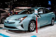 Una mostra di Toyota Prius all'auto internazionale 2016 di New York S Fotografia Stock