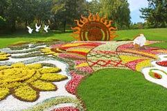 Una mostra tradizionale annuale di 59 fiori Immagine Stock Libera da Diritti
