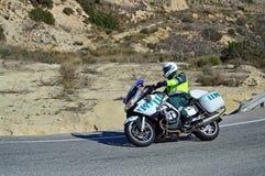 Una motocicleta de la policía Imagenes de archivo