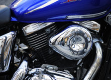 Una motocicleta y toda la libertad del mundo Imagen de archivo libre de regalías