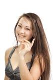 Una muchacha acertada joven Imágenes de archivo libres de regalías