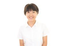 Una muchacha adolescente sonriente Foto de archivo