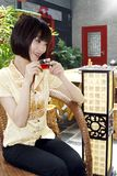 Una muchacha china foto de archivo