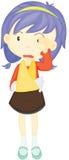 Una muchacha con la mano fracturada libre illustration