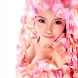 Muchacha de Asia en flor Fotografía de archivo libre de regalías
