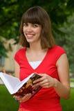 Una muchacha de universidad Foto de archivo libre de regalías