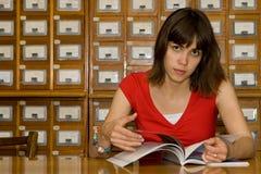 Una muchacha de universidad Fotografía de archivo libre de regalías