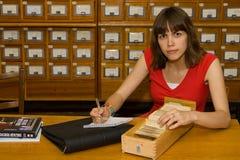 Una muchacha de universidad Fotos de archivo
