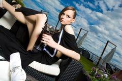 Una muchacha en resto Imagen de archivo libre de regalías