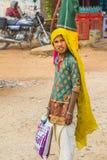 Una muchacha india del pueblo imágenes de archivo libres de regalías