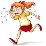 Una muchacha que llora un río libre illustration