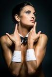 Una muchacha weared como playboy fotografía de archivo libre de regalías