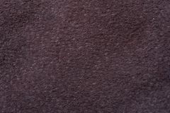 Una muestra de paño de cuero oscuro para coser Fotos de archivo