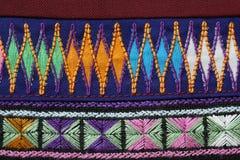 Una muestra de tela étnica tejida del paño Foto de archivo libre de regalías