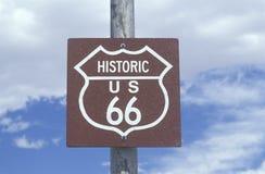 Una muestra histórica de la ruta 66 foto de archivo