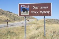 Una muestra que lee el ½ del ¿de Joseph Scenic Highwayï del jefe del ½ del ¿del ï Foto de archivo libre de regalías