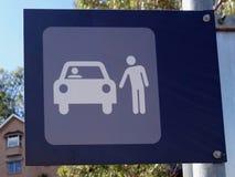 Una muestra que representa la selección encima del punto para los peatones Foto de archivo