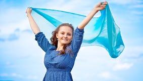 Una mujer con un mantón Fotografía de archivo libre de regalías