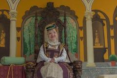 Una mujer con un traje medieval Foto de archivo libre de regalías