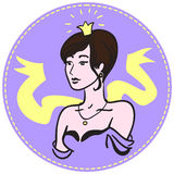 Una mujer con una corona en su cabeza Fotografía de archivo libre de regalías