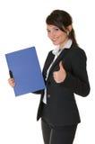 Una mujer de negocios acertada. Fotografía de archivo libre de regalías