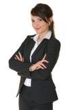 Una mujer de negocios acertada. Imagen de archivo
