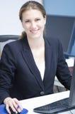 Una mujer de negocios feliz Foto de archivo libre de regalías