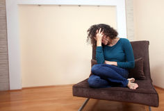 Una mujer deprimida Imagen de archivo