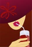 Una mujer en un sombrero libre illustration