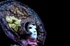 Una mujer enmascarada venitian Foto de archivo libre de regalías