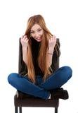 una mujer hermosa con el pelo largo Imágenes de archivo libres de regalías